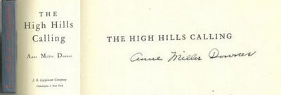 HIGH HILLS CALLING, Downes, Anne Miller