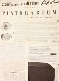 Hundertwasser, Arnulf Rainer, Ernst Fuchs haben das Pintorarium gegründet, Wien am 17. Sept 1959