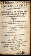 View Image 2 of 4 for Historiae Scoticae Nomenclatura Latino-Vernacula: Multis Flosculis, ex Antiquis Albinorum Monumentis... Inventory #043257