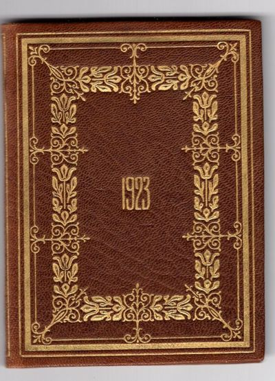 New York: Tiffany and Co., 1922. First Edition. Leather bound. Near fine. Approximately 2 1/2 x 3 1/...