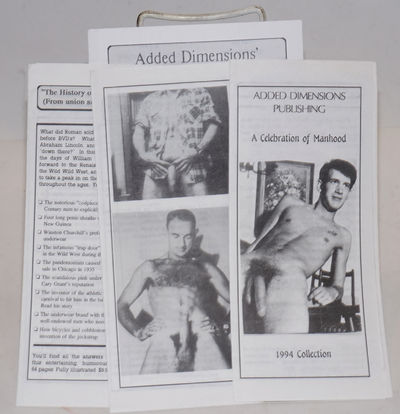Los Angeles: Added Dimensions Pub, 1990. Three brochures and one pamphlet, six-panel folded brochure...