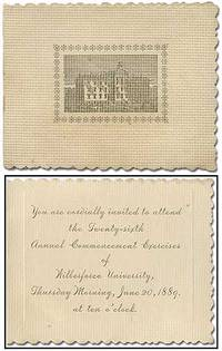 [Invitation and program]: You Are Cordially Invited to Attend the Twenty-Sixth Annual Commencement Exercises of Wilberforce University ... June 20, 1889