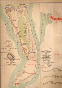 MAP: 3 Section Maps of the Battle Plan and Final Attack of Fort Fisher , North Carolina