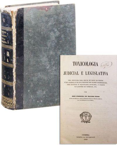 Coimbra, Portugal: Imprensa da Universidade, 1860. First Edition. Hardcover. Thick octavo (21cm.); c...
