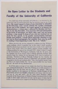 image of An open letter to the students and faculty of the University of California