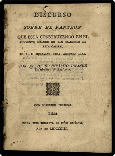 Lima: Real Imprenta de Niños Expósitos, 1803. Small 4to (19.4 cm, 7.65