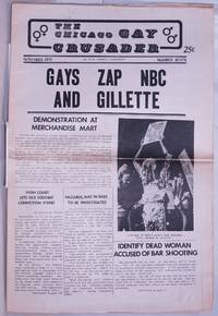 image of Chicago Gay Crusader: the total community newspaper; #7, November 1973: Gays Zap NBC & Gillette