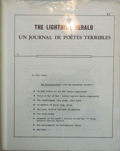 New York: The Lightning Herald, 1978. First edition. Paperback. Very Good. 4to. Loose sheets held to...