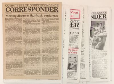 New York: Committees of Correspondence, 2002. 21 issues of the newsletter, 8.5x11 inches, very good ...