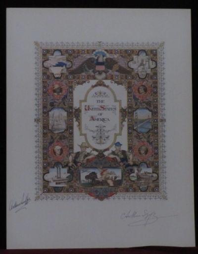 New York: K. Bileski, 1947. First Edition. Szyk, Arthur. Heliochrome lithograph, SIGNED by Arthur Sz...