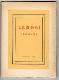 image of G. B. Bodoni e l'opera sua