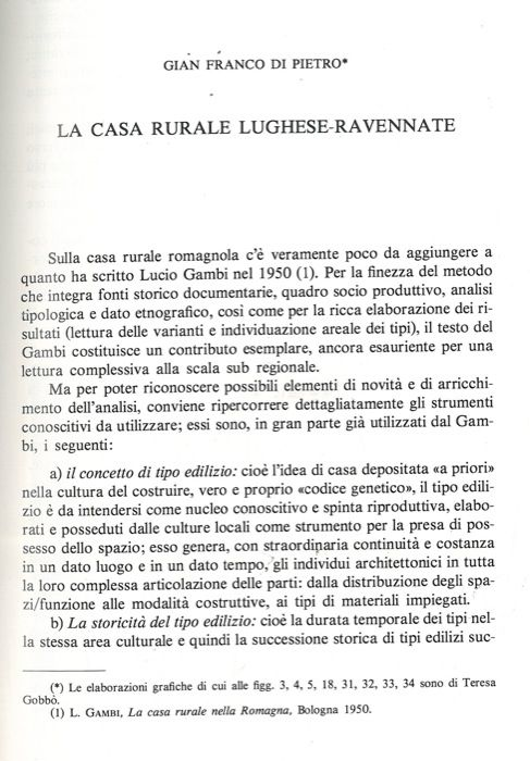 La casa rurale lughese ravennate by di pietro gian franco for Piani di casa rurale