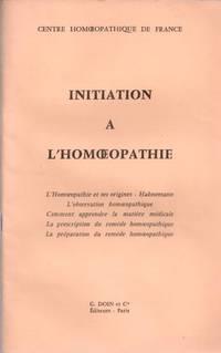 Initiation à l'homoeopathie