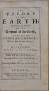 View Image 3 of 6 for THE THEORY OF THE EARTH: Containing an Account of the Original of the Earth, and of all the General ... Inventory #019728