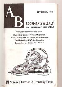 image of AB BOOKMAN'S WEEKLY OCTOBER 1, 1984 VOL 74 NO 14 SPECIAL SCIENCE FICTION &  FANTASY ISSUE