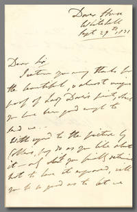 """[Autograph Letter, Signed """"Dover,"""" to Alaric A. Watts]"""