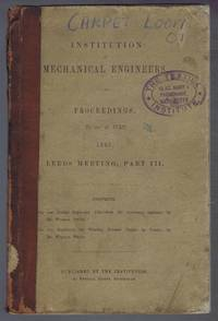 On the Corliss Expansion Valve-Gear for Stationary Engines, On the Machinery for Weaving Brussels Carpet By Power, Institution of Mechanical Engineers, Proceedings 28 and 29 July 1868, Leeds Meeting, Part III