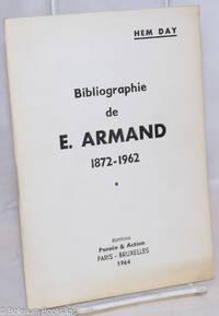 image of Bibliographie de E. Armand, 1872-1962