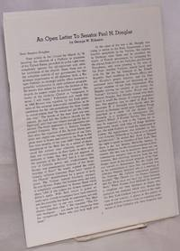 image of An open letter to Senator Paul H. Douglas