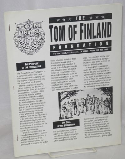 Los Angeles: Tom of Finland Foundation, 1992. 9 issues of the newsletter stapled together, total pag...