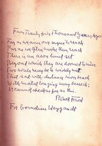 COLLECTED POEMS OF ROBERT FROST with AUTOGRAPH MANUSCRIPT POEM