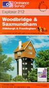 image of Woodbridge and Saxmundham (Explorer Maps)