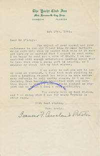 Frances Cleveland Sends Money To A Charity And Asks That Her Name Not Be Used