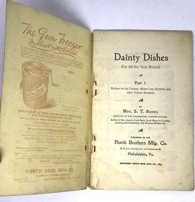 Philadelphia: North Brothers Mfg.Co. , 1898. Staplebound. Illustrated white wraps. Good. 64 pages. 1...