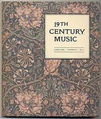 19th Century Music Volume VII , number 3: Essays for Joseph Kerman