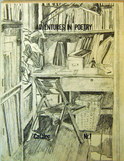 New York: Adventures In Poetry, 1973. First edition. Paperback. Very Good +. 4to. Mimeograph catalog...