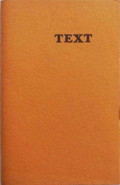 New York: Mark Karlins, 1977. First edition. Paperback. Very Good. Thick stapled wrappers. 83 pp. Er...
