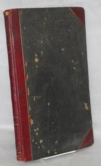 image of Recording Sec. Book. Presented by Nat. Vice President James Hawkins, Oct. 26, 1901