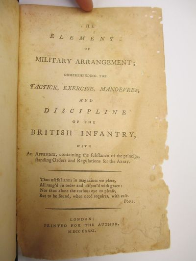 London: Printed for the Author, 1781. First Edition. 8vo., 224 pages; G; 3/4 bound with red leather,...