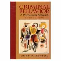Criminal Behavior : A Psychological Approach