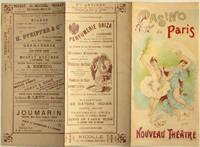 Carte programme du Nouveau Théâtre, Casino de Paris, 1893 [lithographie en couleurs]