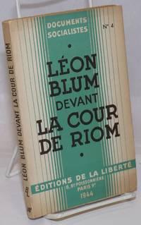 Leon Blum Devant La cour de Riom Fevrier-Mars 1942