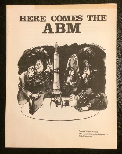 : Science Action Group, Yale University, 1969. Four-panel brochure, 8.5x11 inches, some toning. Oppo...