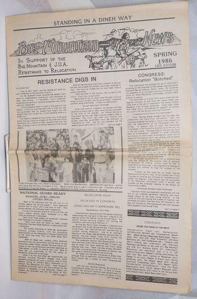 Flagstaff, AZ: Big Mountain (JUA) Legal Defense/Offense Committee, 1986. 16p., tabloid format newspa...