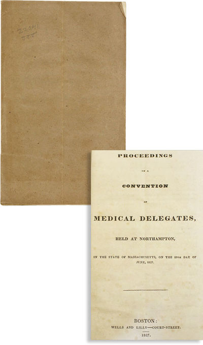 Boston: Wells and Lilly, 1827. First Edition. Octavo (22cm.); contemporary drab wrappers; 12pp. Fain...