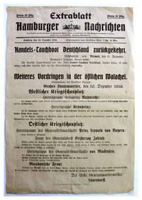 Rare Original Broadside Announcing the Return of the Civilian German U-Boat 'Deutschland' from its Second Trans-Atlantic Voyage.