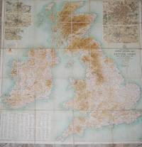 BARTHOLOMEW'S CONTOUR MOTORING MAP OF THE BRITISH ISLES.