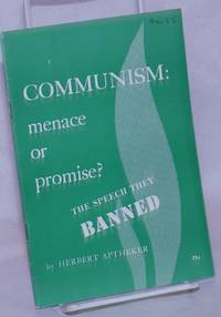 image of Communism: menace or promise? The speech they banned [sub-title from cover]