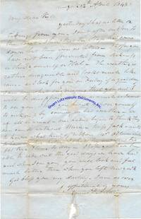 """An Archive Of Letters Of The Early Industrialist James P. Allaire To His Wife; He Mentions Cornelius Vanderbilt And Notes That His Wife Is In Charge Of The Enterprise: """"You Must Show Her How To Keep Book And Let Her Go To The Store With You…I Expect To Engage An Engine And It Will Not Do For Me To Be Absent…Now My Dear As You Are Manager Of The Howell Works"""""""