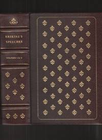 image of SPEECHES OF LORD ERSKINE Volume I and II