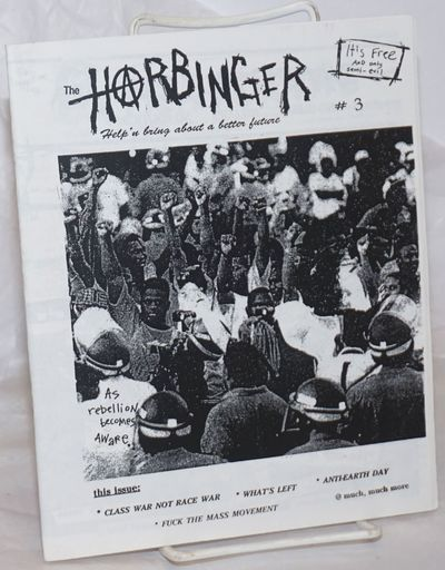 Fremont, CA: The Harbinger, 1994. 29p., stapled wraps, 7x8.5 inches, illus., very good zine-format j...