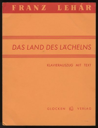 Wien: Glocken-Verlag , 1957. Folio. Original publisher's light orange printed wrappers. (title, cast...