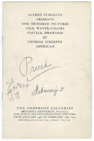 Rare Georgia O'Keefe Pricelist 1923