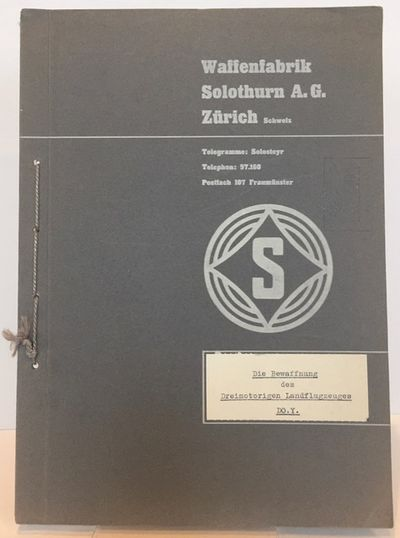 Zurich, Switzerland: Waffenfabrik Solothurn A.G., 1934. First edition (?). 4to. 12 pp. . Large foldi...