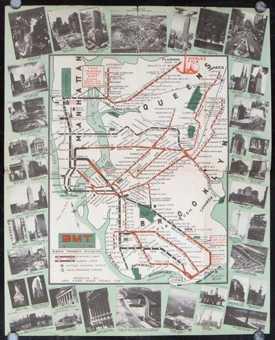 Bmt Subway Map.Abaa Bmt Rapid Transit Lines Travel Guide To World S Fair And