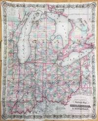 G. Woolworth Colton's County and Township New Railroad Map of the Ohio, Indiana and Michigan,...